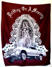 Drifting On A Memory Wall Tapestry (Burgundy)