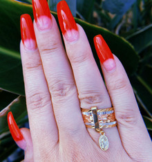 Gold Virgen De Guadalupe Ring
