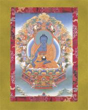 Medicine Buddha (Bhaishajyaguru) - Large Deity Card