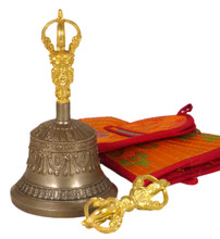 Small Five Prong Bell and Dorje Set 5.75""