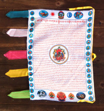 Green Tara Vertical Prayer Flag