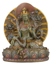 Green Tara Bronze Finish Resin Statue