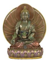 Medicine Buddha Resin Statue with Gyab Yol