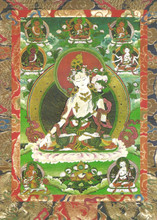 White Tara Deity Card