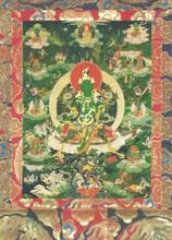 Green Tara (Dark Green) Deity Card