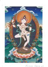 Machig Lobdron Deity Card Print, by Kumar Lama
