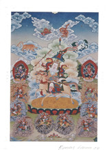 King Gesar of Ling Deity Card Print, by Kumar Lama