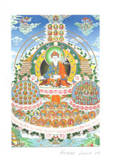 Dudjom Tersar Refuge Tree Deity Card Print, by Kumar Lama