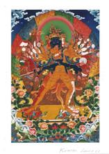 Kalachakra Deity Card Print, by Kumar Lama