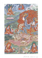 Dorje Drolo Deity Card Print, by Kumar Lama