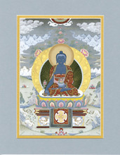 Medicine Buddha, Giclee Canvas Print