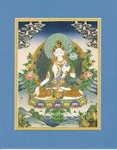 Longevity Tara (White Tara), Giclee Canvas Print