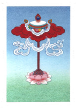 The Parasol (Umbrella): Eight Auspicious Symbols Card, by Kumar Lama