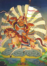 King Gesar Greeting Card, by Neljorma Tendron
