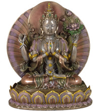 Chenrezig (Avalokiteshvara) Medium Resin Statue