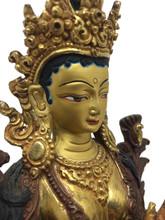 "Green Tara Statue  8.5"""