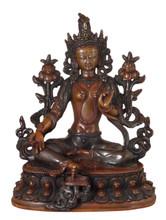 Green Tara Statue with Two-Tone Finish