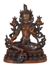 Green Tara Statue with Two-Tone Finish