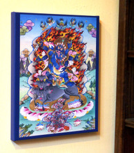 Black Hayagriva Canvas Print