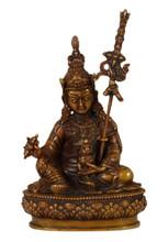 "Oxidized Copper Guru Rinpoche Statue 4.5"""