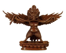 Oxidized Copper Garuda Statue 3""