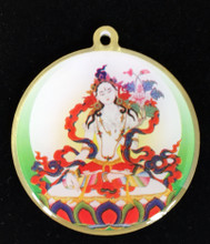White Tara Mantra Deity Medallion