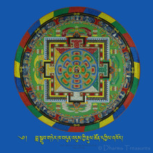 "Seven Treasures Guru Rinpoche Sand Mandala Photo 8""x8"""