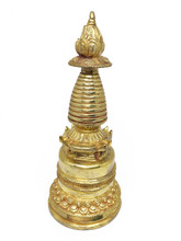 """Kadampa Stupa (Gold) 7.25"""""""