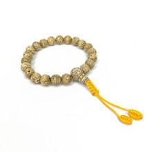 Lotus Seed Wrist Mala 21 Beads 8mm