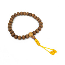 Sandalwood Wrist Mala 27 Beads 8mm