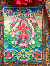 "Kurukulle with Retinue Print Thangka - 38"" x 23"""