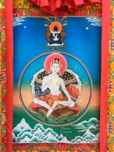 """Garab Dorje Guru Yoga Print Thangka - 54"""" x 33"""""""