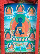 "Medicine Buddha Print Thangka - 52"" x 32"""