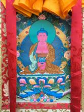 "Amitabha Thangka - 31"" x 21"""