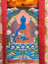 "Medicine Buddha Thangka - 31"" x 21"""