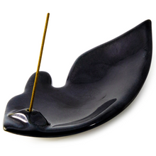 Obsidian Leaf Incense Holder by Shoyeido