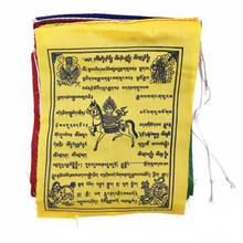 """Multi-Deity 5-Color Prayer Flag 6"""" x 8"""""""