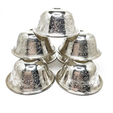 Solid Silver Offering Bowls, Set of Seven