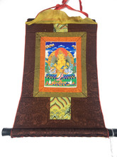Mini Dzambhala Print Thangka