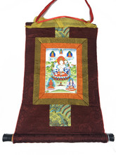 Mini White Tara Print Thangka