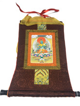 Mini Green Tara Print Thangka