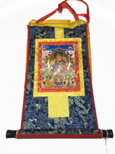 Mini Golden Guru Rinpoche Print Thangka