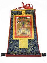 Mini Shiny Medicine Buddha Print Thangka