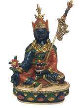 Orgyen Menla Statue, Gold Plated and Mineral Hand-Painted 6.5""