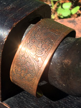 Wide Copper Plated Bracelet