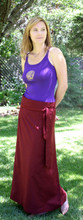 Burgundy Meditation Skirt Uni-sex
