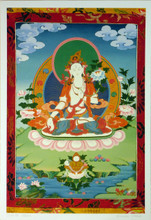 Large Print of White Tara Thangka by Kumar Lama