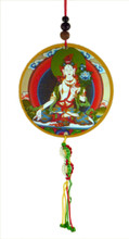 White Tara Hanging Medallion