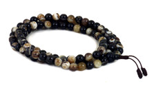 Black banded agate mala with 108, size 8mm beads.
