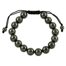Magnetic Hematite Pull String Bracelet